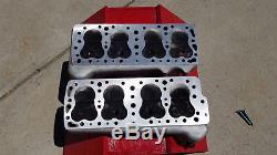 1949-53 Edelbrock Flathead Heads & Offenhauser 2x2 intake Manifold Carbs&Gaskets