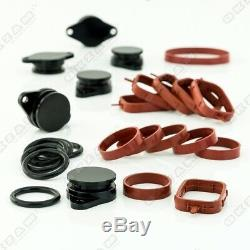 32mm BLACK ALUMINIUM SWIRL FLAP REPLACEMENT SET + O-RING FOR BMW X3 X5 NEW