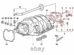 BMW e39 e38 v8 OEM Oil Separator valve KIT +gasket +bolts +cap manifold cover