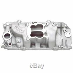 Edelbrock 2161 Perf 2-O Intake Manifold 1965-90 BB Chevy with FREE Intake Gaskets