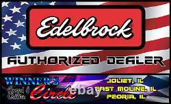 Edelbrock 7163 Intake Chevy Big Block, Rectangular Port WithFREE intake Gaskets