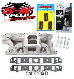 Edelbrock 7521 Ford 289/302 Performer RPM Air Gap Intake Manifold Bolts/Gaskets