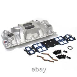 Edelbrock Intake Manifold 2701 Kit Performer EPS with Bolts & Gaskets for SBC