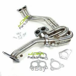For 02-07 Subaru Impreza GC8 2.0 2.5 WRX STI Exhaust Header Manifold Stainless