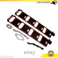 Intake Manifold Gasket Set Fits 01-07 Chevrolet GMC Avalanche 2500 8.1L OHV 16v