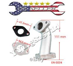 Intake Manifold Pipe With Gaskets for 110cc 125cc 140cc Dirt Pit Bike Go Kart Quad