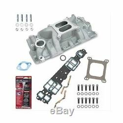 SBC 327 350 Chevy Weiand 8150 Intake Manifold withGaskets & Bolts Pro-Pack