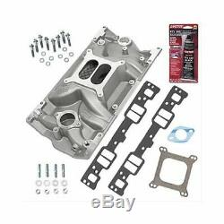 SBC 350 Chevy Vortec Weiand 8121 Intake Manifold withGaskets & Bolts Pro-Pack