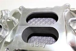 Sbc 283-327-350 Chev Polished Intake Manifold + 600cfm Carburetor + Gasket Kit