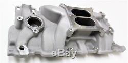 Sbc 283-327-350 Chev Satin Intake Manifold + 600cfm Carburetor + Gasket Kit