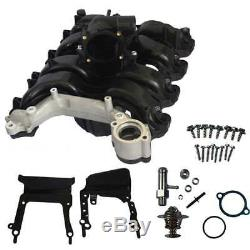 Upper Intake Manifold WithThermostat & Gaskets For Ford E-150 E-250 F-150 4.6L V8