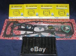Zylinderkopfdichtung Satz + Schrauben + Kolbenringe Opel 2,4 CIH C24NE Omega A