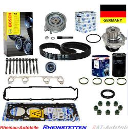 Zylinderkopfdichtungsatz Zahnriemensatz Wasserpumpe Ölfilter VW GOLF IV 1.6